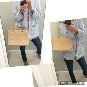 Auth Chanel Grand shop tote bag
